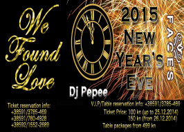 Faces bar & club - New Year's Eve - 31.12.