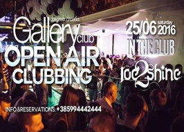Gallery Club Zagreb - House with Dj Joe2Shine - 25.06.